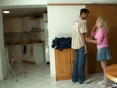 bigcocked chap is drilling his wifes mom love