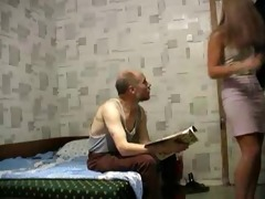 non-professional old stud fucks a young girl