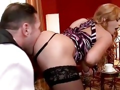 family slave licking hawt blond lady