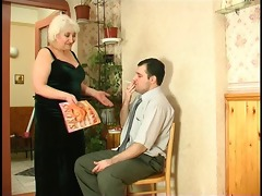large tit granny acquires a load in the face hole