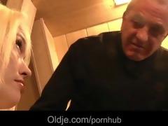 big weenie oldman john fucks horny youthful blond