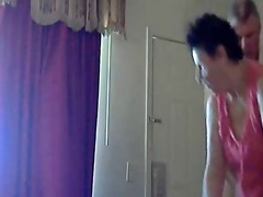 mum and daddy home alone having fun. hidden cam