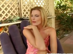 hawt golden-haired stepmom bonks stepsons cock