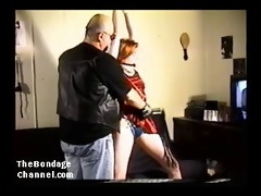 19 year old redhead fastened and whipped hard