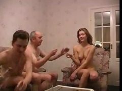 gang bang with old guy and lad