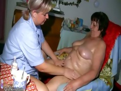 oldnanny old grannie and bbw older playing with a