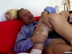 young hottie bumps on old senior jock