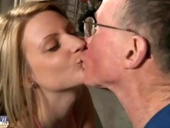 old dick sucked by golden-haired
