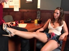 nasty footjobs - kalee hunter