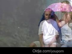 poor oldman mets his guardian blonde angel