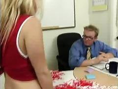 ravishing blond gal does alot of cock engulfing
