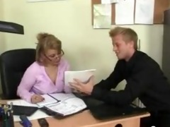 office lady gives head and receives nailed at the