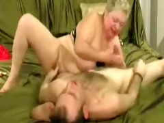 doxy granny enjoys with younger man. amateur
