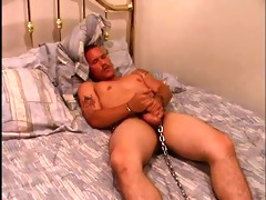 chained to the bed jerking off - mother