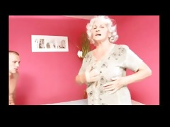 granny betty drilled by young cock