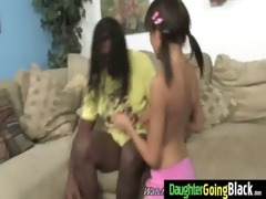 young daughter with nice wazoo drilled by a dark