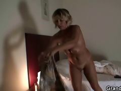 youthful robbers group sex aged lady