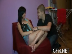 nice-looking legal age teenager beauty stands