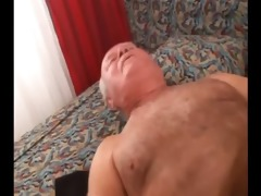 young hairy coed with old man