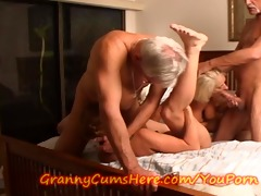 granny desires some pussy little girl!