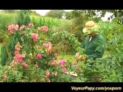 voyeur papy enjoys orgy in nature