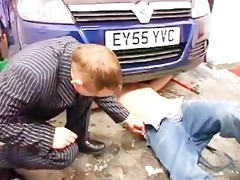 english daddy and guy fuck on car bonnet