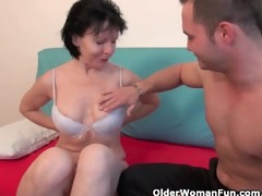 wanton grandma is truly enjoying his fuck stick