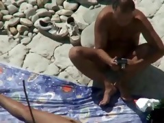 mom and dad fuck on a public beach