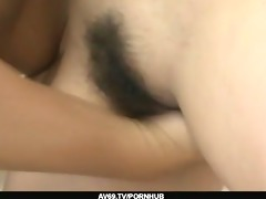 tied up babe yurina acquire her unshaved pussy