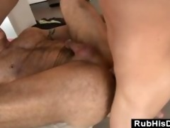 gay bear loves it is up his booty from younger