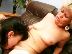 old women eating puss