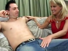 golden-haired sexpot rides her stepsons big cock