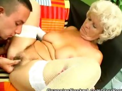 excited granny rides on a hard dick