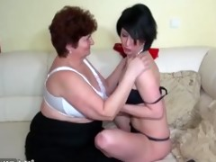 aged babes fucking with younger babes and licking