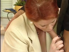 breasty redhead german older fucked by youthful