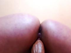 close up of dildo in cum-hole