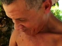 ugliest old dude fucks plump mature in woods