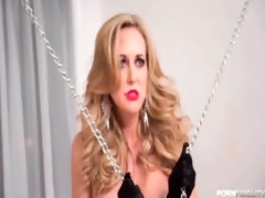 chained up brandi love is the fuck slave to a