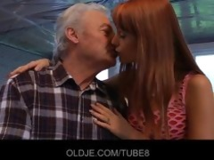 older lad in an audition with erika fontess moist