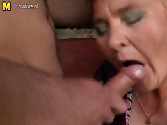 young lad tastes old nympho granny