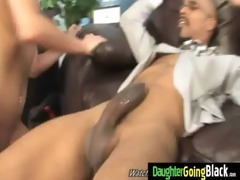 young daughter with nice booty fucked by a dark