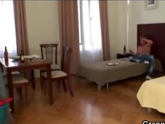 granny charwoman pleases cock instead cleaning