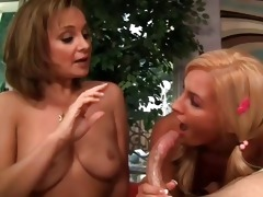 mommy and daughter mouth fuck dick
