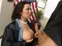 hot breasty secretery giving head at work