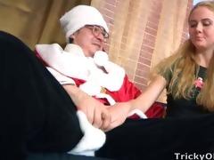 marvelous juvenile blonde acquires to fuck santa
