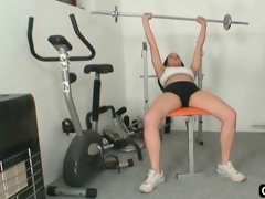naughty workout and gym orgasm