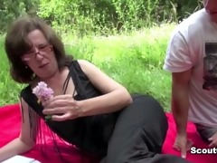 german mom caught outdoor and fuck by juvenile boy