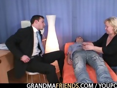 blonde grandma acquires slammed by cocks