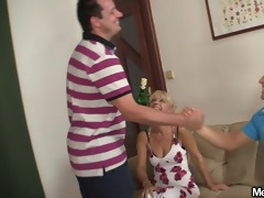 hot teenie enticed by her bfs mommy and dad