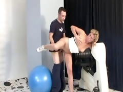 milf gets the exercise she needs, plus a protein